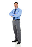 Reife Geschäftsmannarme gefaltet Lizenzfreie Stockbilder