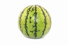 Reife geschmackvolle Wassermelone auf Weiß Stockfotografie