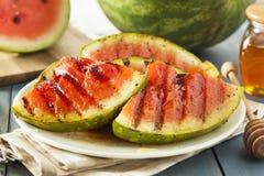 Reife gesunde organische gegrillte Wassermelone Lizenzfreie Stockfotografie