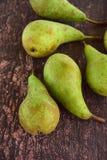 Reife grüne Birnenfrucht Lizenzfreie Stockfotografie