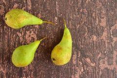 Reife grüne Birnenfrucht Lizenzfreies Stockbild