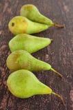Reife grüne Birnenfrucht Lizenzfreie Stockfotos