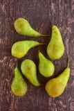 Reife grüne Birnenfrucht Stockbild