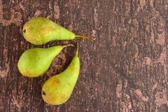 Reife grüne Birnenfrucht Lizenzfreie Stockbilder
