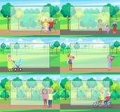 Reife Leute-zusammen Großeltern Sit Ride Walk Stockbilder