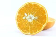 Reife Mandarinen-Zitrusfrucht lokalisierte Tangerine-Mandarine auf weißem Hintergrund lizenzfreies stockbild