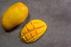Reife Mango-obenliegende Ansicht Stockfoto