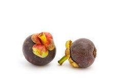 Reife Mangostanfrüchte Stockbilder