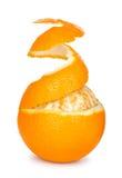 Reife Orange abgezogene Haut Lizenzfreie Stockbilder
