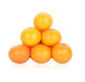 Reife Orange lokalisiert Lizenzfreie Stockbilder