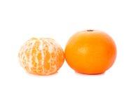 Reife Orange lokalisiert Lizenzfreie Stockfotos