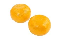 Reife Orangen getrennt auf Weiß Stockbild