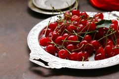 Reife organische Kirsche Stockfoto