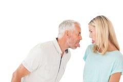 Reife Paare, die mit einander argumentieren Stockbilder