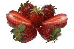 Reife rote Erdbeere, wird er getrennt Lizenzfreie Stockbilder