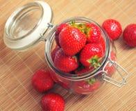 Reife saftige Erdbeere Lizenzfreies Stockbild