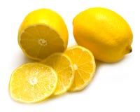 Reife saftige Zitronen lizenzfreie stockbilder