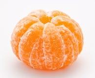Reife Tangerine auf einem Weiß Stockbild