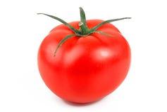 Reife Tomate getrennt auf weißem Hintergrund Stockfotografie