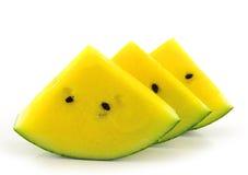 Reife und saftige Wassermelonescheibe Lizenzfreies Stockbild