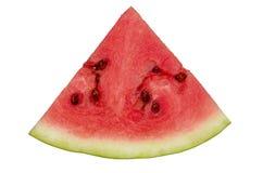 Reife Wassermelone auf Weiß Stockbild