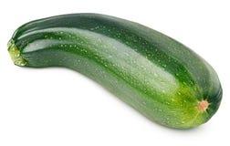 Reife Zucchini oder Zucchini lokalisiert auf Weiß Lizenzfreie Stockfotos