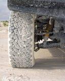 Reifen 4wd auf Sand Stockfoto