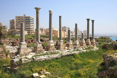 Reifen-archäologische Fundstätte, der Libanon Stockbilder