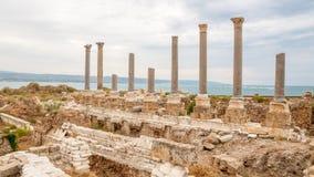 Reifen-archäologische Fundstätte, der Libanon lizenzfreie stockfotografie
