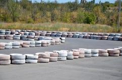 Reifen auf dem Autodrome Lizenzfreie Stockbilder
