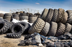 Reifen, der Industrie aufbereitet Lizenzfreies Stockfoto