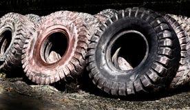 Reifen, der Industrie aufbereitet Stockbilder