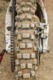 Reifen des Motocrossfahrrades Stockbilder