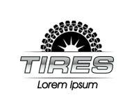 Reifen Logo Design Stockbild