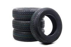 Reifen lokalisiert auf Weiß Lizenzfreie Stockbilder
