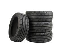 Reifen lokalisiert auf weißem, speziellem Farbeffekt Stockfotografie