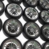 Reifen mit Chrom fasst Hintergrund ein stock abbildung