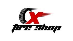 Reifen-Shop Logo Design vektor abbildung