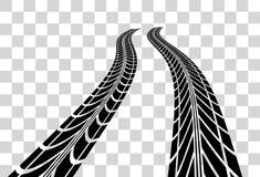 Reifen spürt Vektor auf Stockfotos