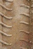 Reifen-Spuren im Sand Stockfotografie