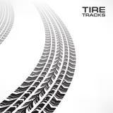 Reifenbahnen auf Weiß Lizenzfreies Stockfoto