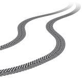 Reifenbahnen, weißer Hintergrund Stockfotografie