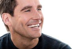 Reifer Abschluss des gutaussehenden Mannes herauf Porträt Stockfotos