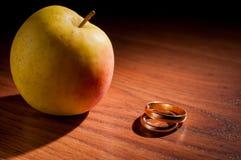 Reifer Apfel Stockbild
