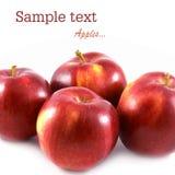 Reifer Apfel vier stockbilder