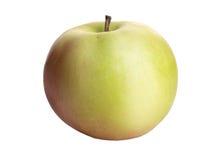 Reifer, frischer Apfel lokalisiert auf weißem Hintergrund Lizenzfreies Stockbild