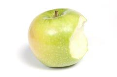 Reifer gegessener Apfel Stockbild