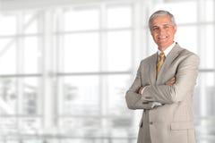 Reifer Geschäftsmann Light Suit Stockbilder