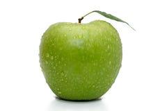 Reifer grüner Apfel Lizenzfreie Stockbilder