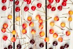Reifer Kirschhintergrund Stockbilder